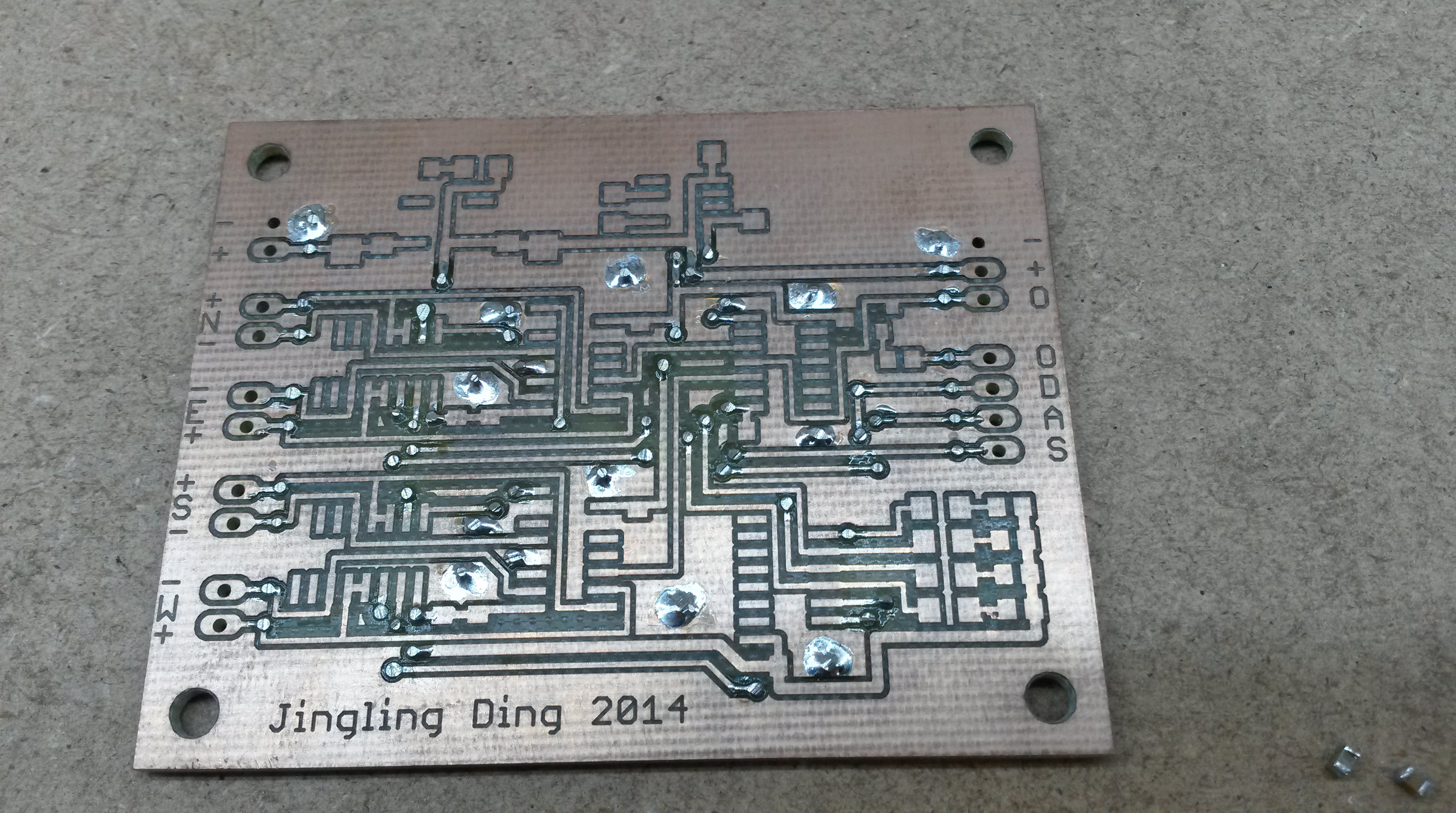 The board for the digital part waiting for the components to be placed and soldered.