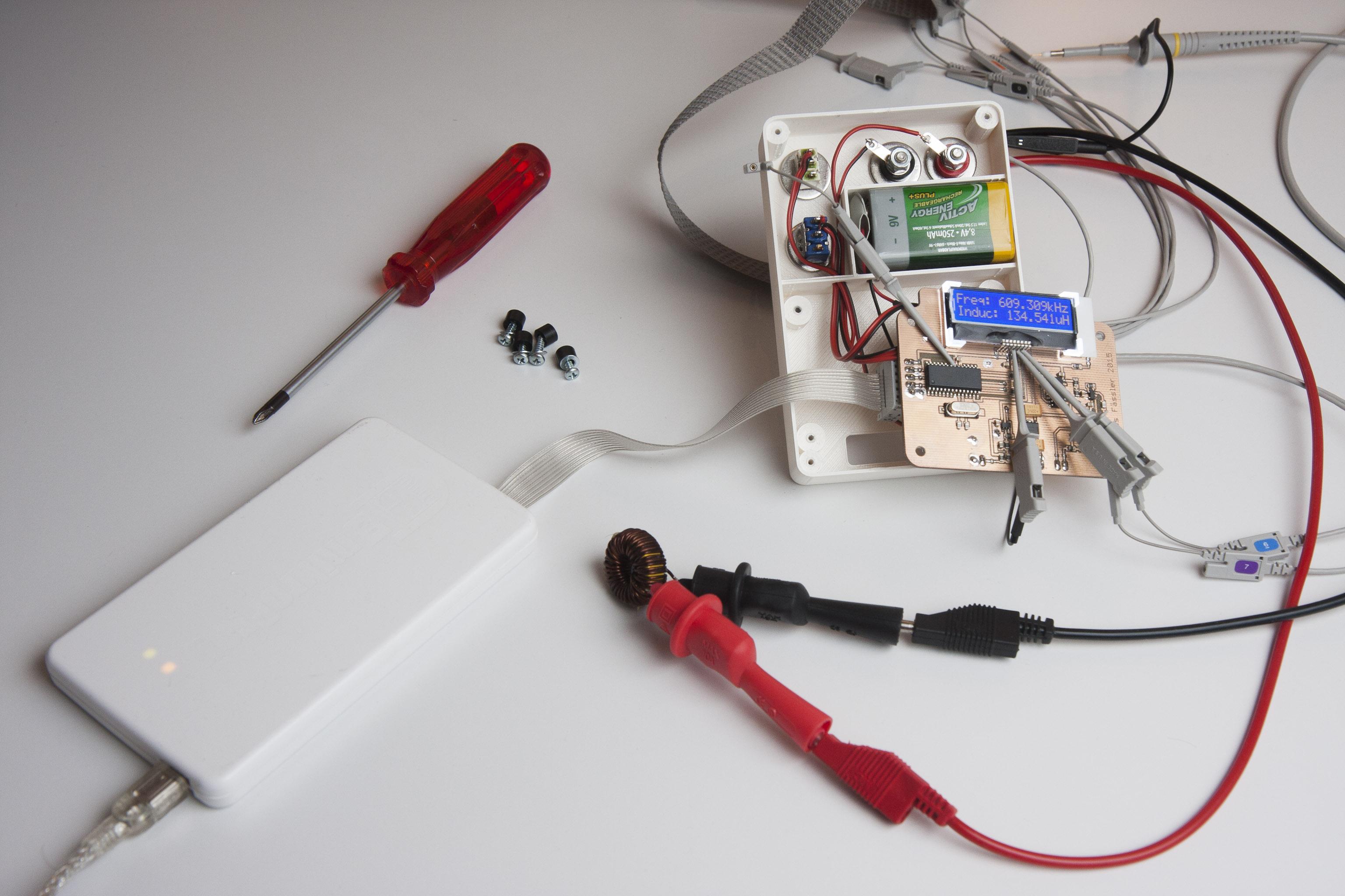 Inductor Coil Meter : Measuring coils soldernerd